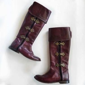 FRYE Womens Paige Clovertab Cuff Boot 5.5 Bordeaux